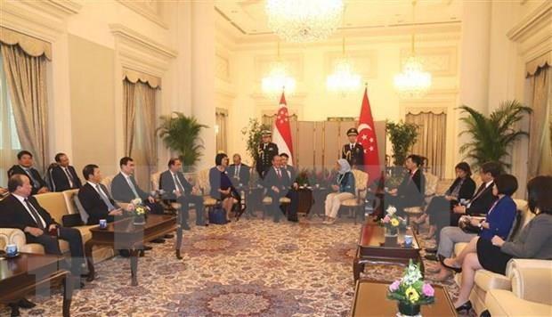 Realiza vicepremier de Vietnam visita oficial a Singapur hinh anh 1