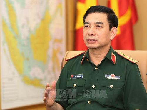 Delegacion militar de alto nivel de Vietnam visita Myanmar hinh anh 1