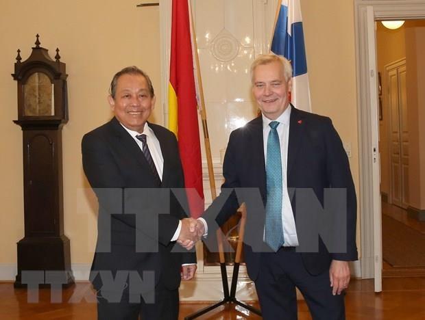 Vietnam y Finlandia se proponen intensificar lazos en sectores potenciales hinh anh 1