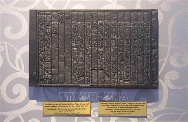Inauguran en provincia vietnamita exposicion de planchas xilograficas de la dinastia Nguyen hinh anh 1