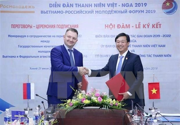 Robustecen conexion entre organizaciones juveniles de Vietnam y Rusia hinh anh 1