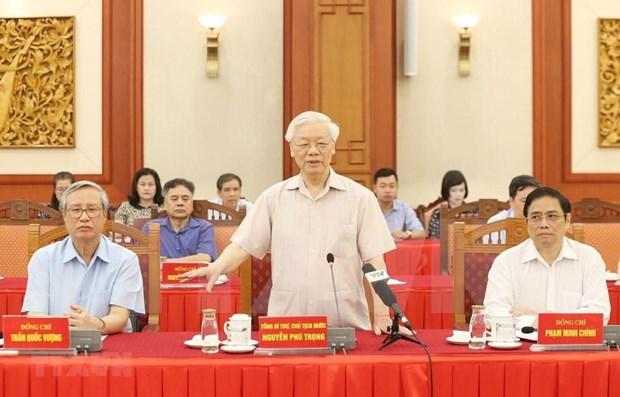 Llama maximo dirigente vietnamita a asesoramiento de expoliticos hinh anh 1