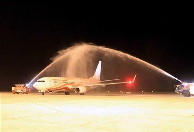 Inauguran ruta aerea internacional entre ciudades de Vietnam y China hinh anh 1