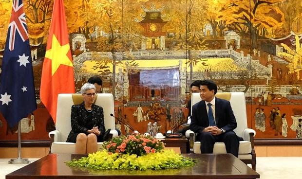 Intensifican relaciones entre Hanoi y el estado australiano de Victoria hinh anh 1