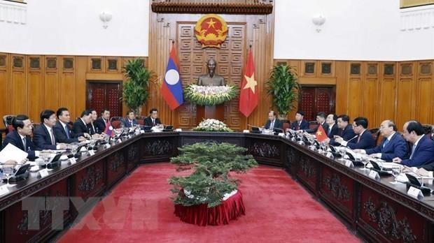 Reafirman Vietnam y Laos su gran amistad hinh anh 1