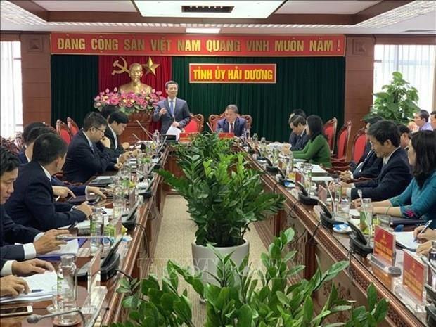 Promueven en Provincia vietnamita de Hai Duong avances en infraestructura de Tecnologia de la Informacion hinh anh 1