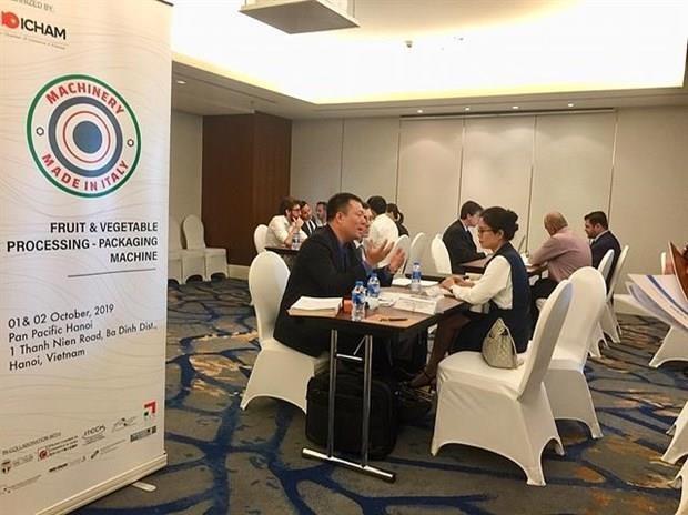 Aspiran empresas italianas a asociarse con Vietnam en produccion agricola hinh anh 1