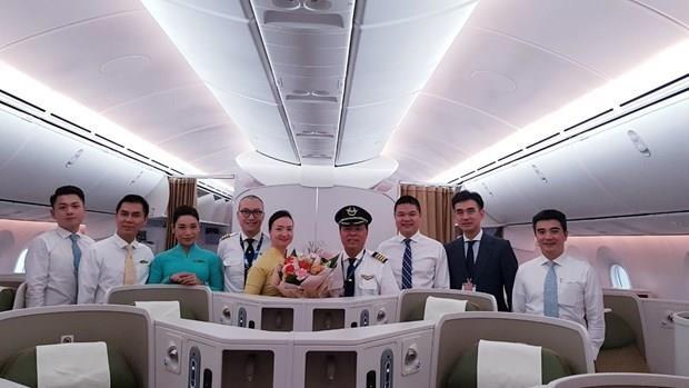 Realiza Vietnam Airlines su primer vuelo con el avion Boeing 787- 10 a Seul hinh anh 1