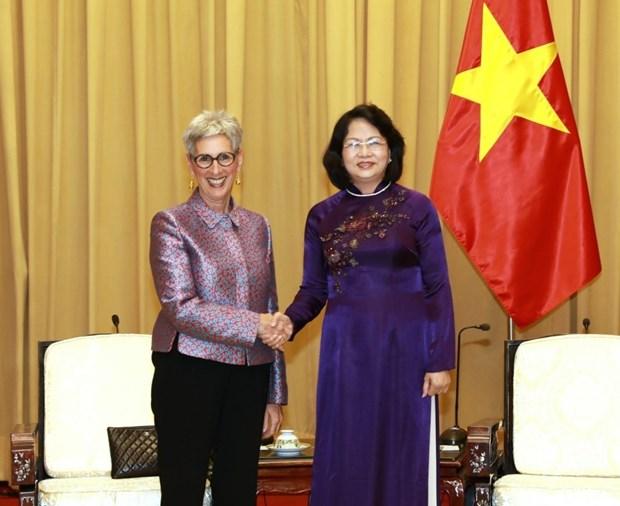Aboga vicepresidenta de Vietnam por cooperacion educativa con estado australiano hinh anh 1