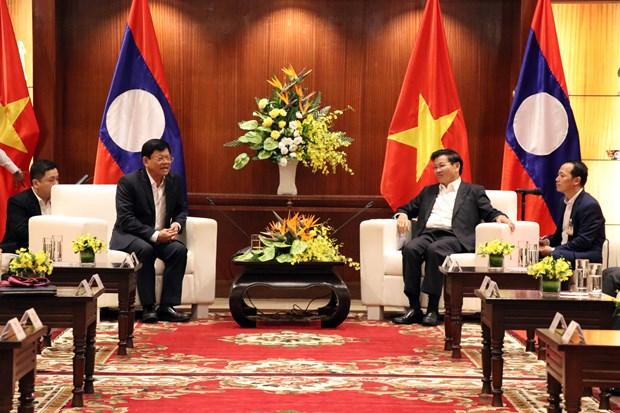 Visita premier de Laos ciudad vietnamita de Da Nang hinh anh 1