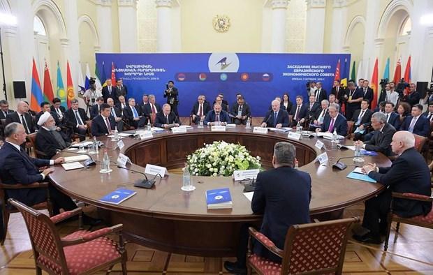Firman Union Economica Euroasiatica y Singapur Tratado de Libre Comercio hinh anh 1