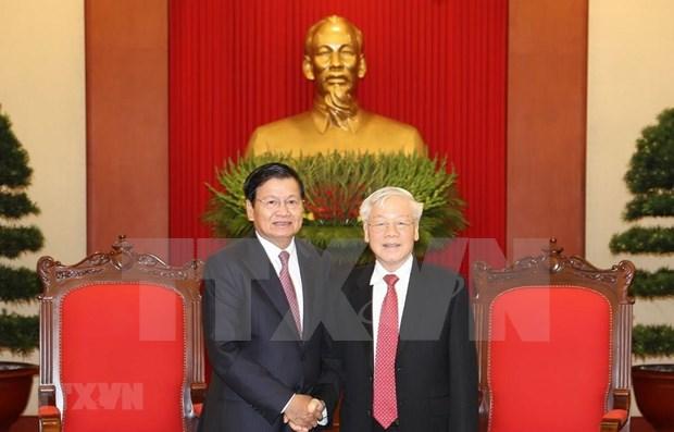 Refleja prensa laosiana visita oficial a Vietnam del primer ministro Thoungloun Sisoulith hinh anh 1