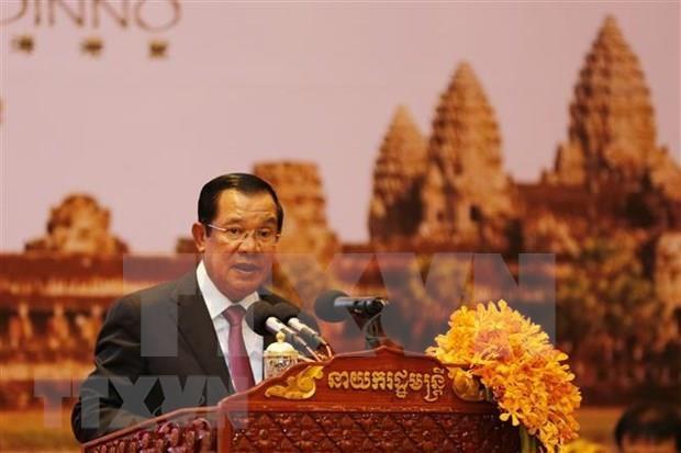 Promovera visita de primer ministro de Camboya nexos de amistad y cooperacion con Vietnam hinh anh 1