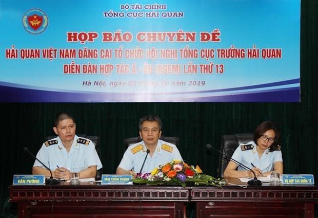 Organizara Vietnam reunion de directores generales de aduanas de ASEM hinh anh 1