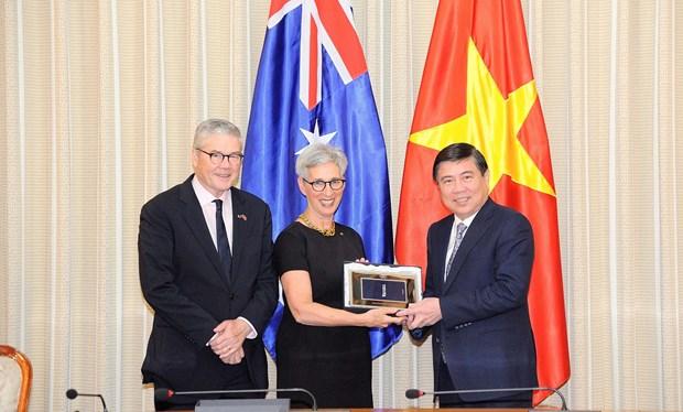 Promueven nexos entre Ciudad Ho Chi Minh y estado australiano en educacion hinh anh 1