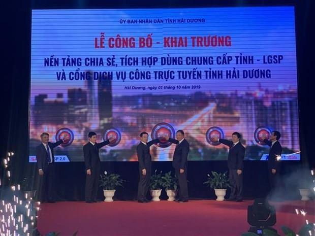 Lanza provincia vietnamita de Hai Duong plataforma de servicio gubernamental hinh anh 1