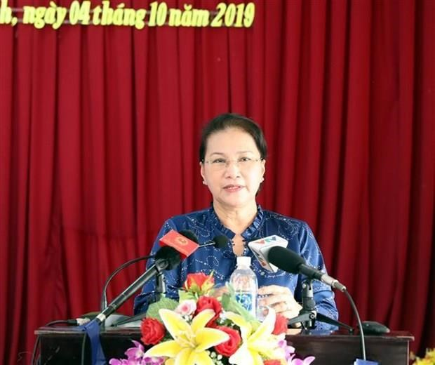 Contacta Presidenta del Parlamento de Vietnam con electores de Can Tho hinh anh 1