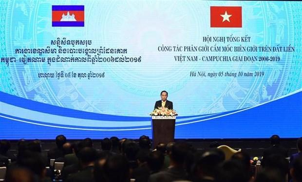 Destacan nuevo progreso en demarcacion de fronteras terrestres entre Vietnam y Camboya hinh anh 1