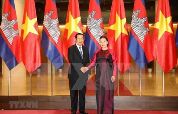 Fomentan Vietnam y Camboya sus relaciones de solidaridad y cooperacion hinh anh 1