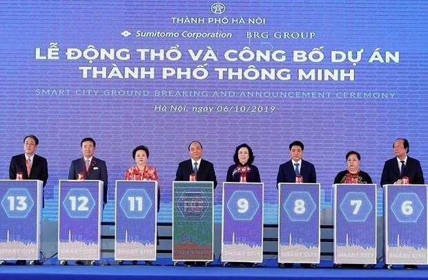 Inician en Hanoi mayor proyecto de urbe inteligente en Vietnam hinh anh 1