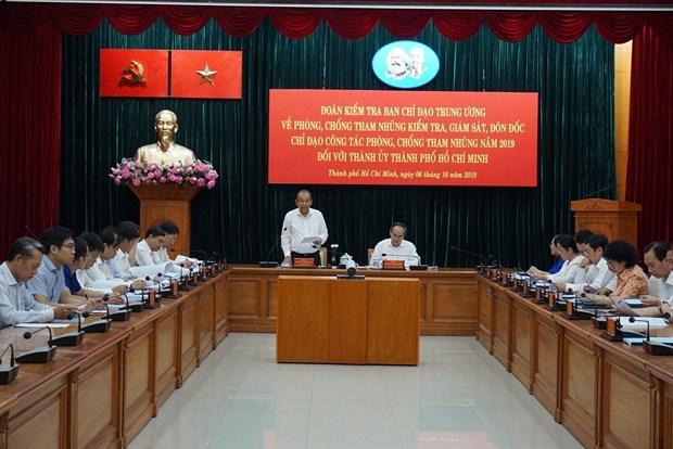 Reconocen logros de Ciudad Ho Chi Minh en la lucha anticorrupcion hinh anh 1
