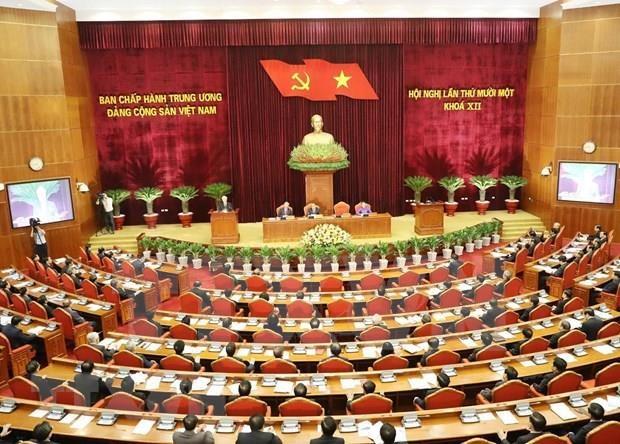 Sesiona XI pleno del Comite Central del Partido Comunista de Vietnam hinh anh 1