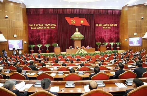 Concluye XI pleno del Comite Central del PCV segunda jornada de trabajo hinh anh 1