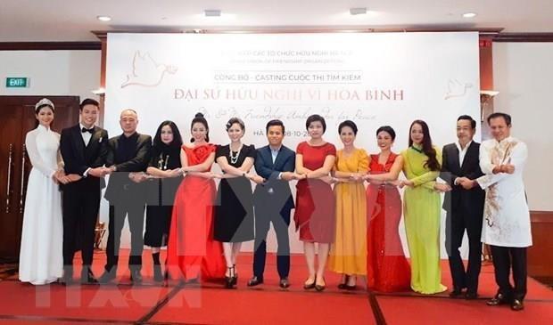 Lanzan concurso para buscar a embajador amistoso de Hanoi por la paz hinh anh 1