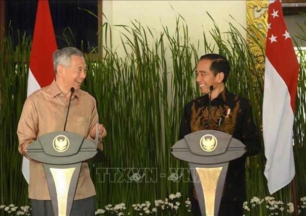 Visita presidente de Indonesia a Singapur hinh anh 1