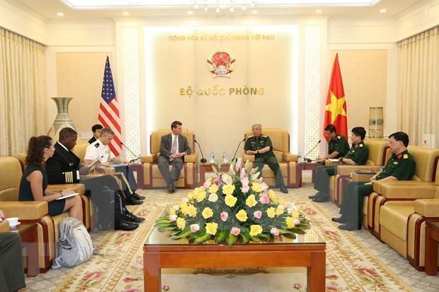 Promueven cooperacion bilateral de defensa entre Vietnam y Estados Unidos hinh anh 1