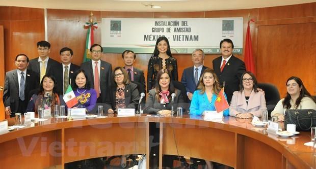 Presentan en Mexico Grupo Parlamentario de Amistad con Vietnam de la actual legislatura hinh anh 1