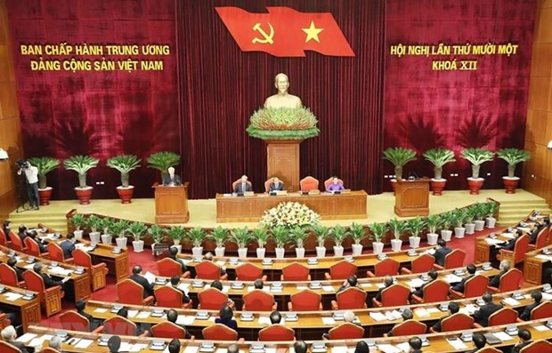 Prosigue Comite Central del Partido Comunista de Vietnam su XI pleno hinh anh 1
