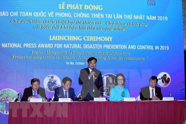 Celebran en Hanoi acto en respuesta al Dia Internacional para la Reduccion de Desastres hinh anh 1