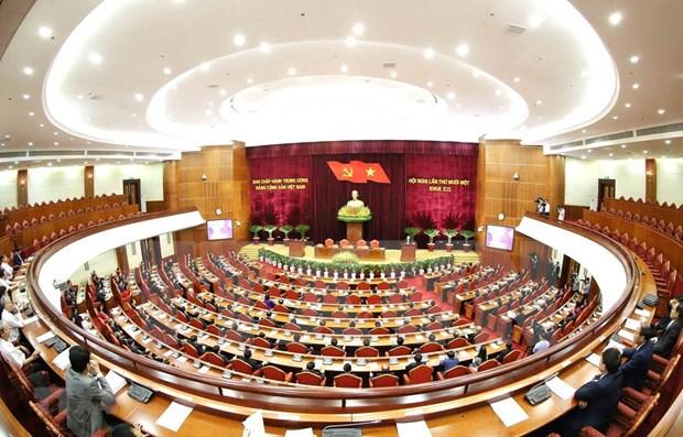 Concluye onceno pleno del organo rector del Partido Comunista de Vietnam hinh anh 1