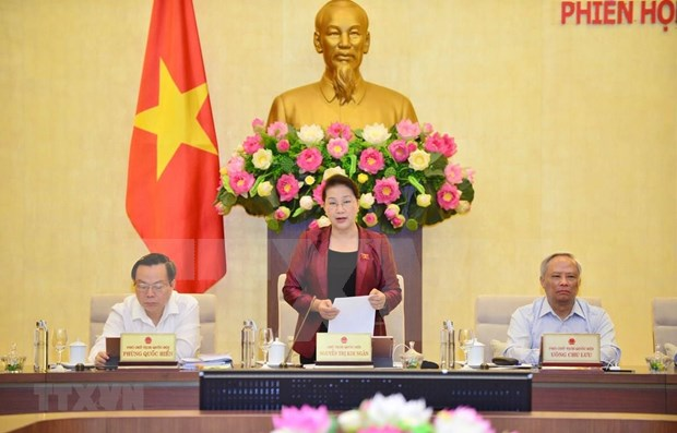 Inauguran la reunion 38 del Comite Permanente del Parlamento vietnamita hinh anh 1
