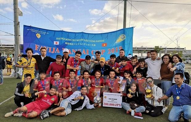 Participan casi mil vietnamitas en campeonato regional de futbol en Japon hinh anh 1