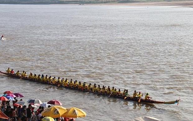 Celebran en Laos regata tradicional Boun Suan Huea hinh anh 1