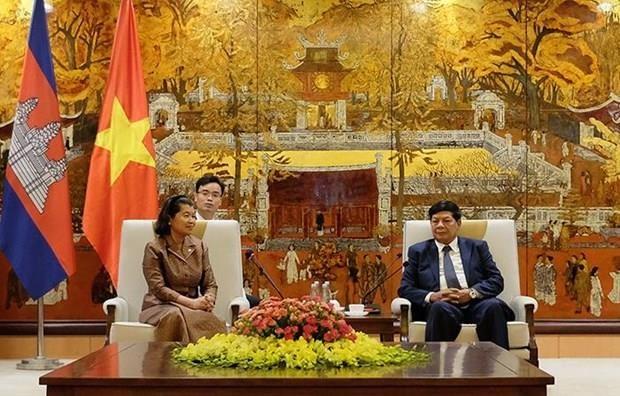 Intensifican Hanoi y Phnom Penh lazos en la supervision hinh anh 1