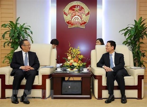 Estrechan Vietnam y China colaboracion en informacion y comunicaciones hinh anh 1