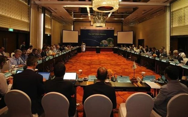 Celebran en Hanoi reunion del Comite de Satelites para Observacion de Tierra hinh anh 1
