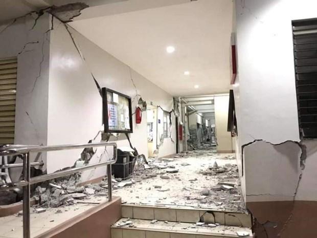 Mueren tres personas tras terremoto en Filipinas hinh anh 1