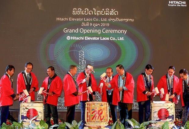 Abre gigante japones de electronica Hitachi unidad de servicios de ventas en Laos hinh anh 1