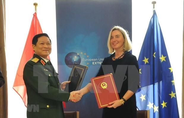 Firman Vietnam y UE acuerdo marco de asociacion para gestion de crisis hinh anh 1