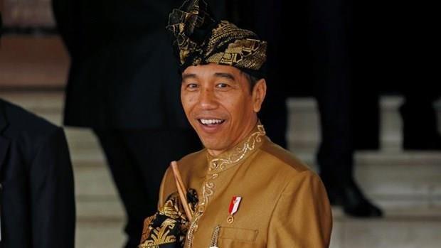 Joko Widodo jura su segundo mandato como presidente de Indonesia hinh anh 1
