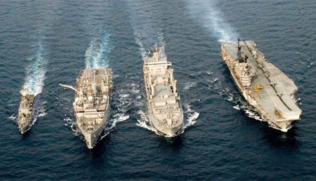 Realizan Tailandia y la India ejercicio naval conjunto hinh anh 1