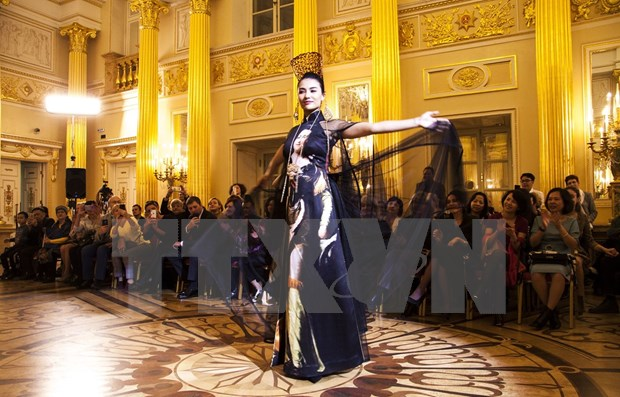 Presentan en Rusia seda y brocado de Vietnam hinh anh 1