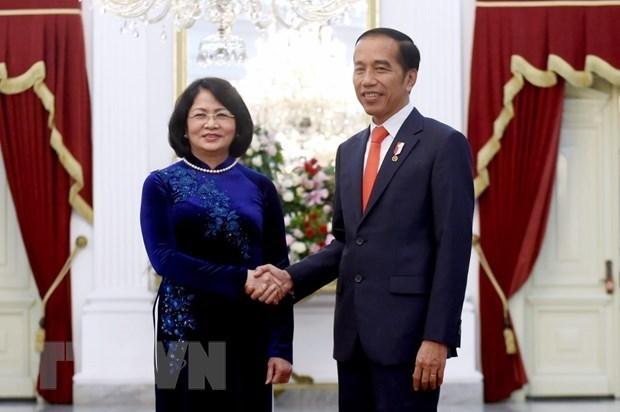 Asiste vicepresidenta de Vietnam al acto de asuncion del presidente indonesio hinh anh 1