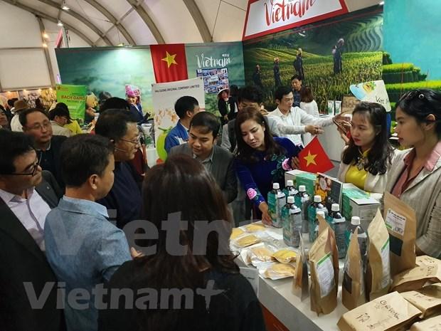 Presentan productos agricolas vietnamita en exposicion internacional en Corea del Sur hinh anh 1