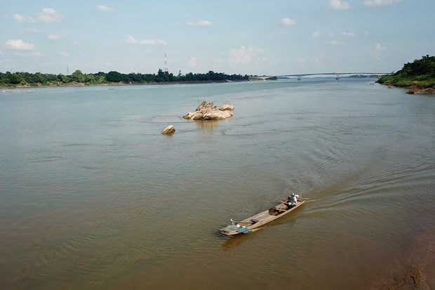 Baja en Tailandia nivel del agua del rio Mekong hinh anh 1