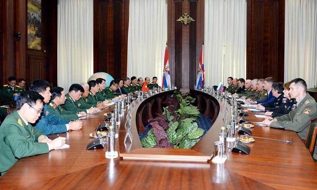 Profundizan Vietnam y Rusia relaciones en defensa hinh anh 1